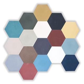 cementova dlazba patchwork hexagon