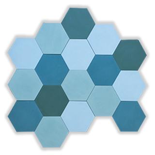 cementova dlazba hexagony