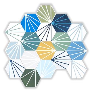 cementova dlazba hexagony ciary