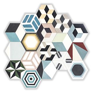 nahodny patchwork hexagony
